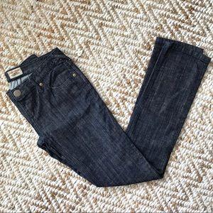 Free People Dark Wash Straight Leg Jeans Size 27